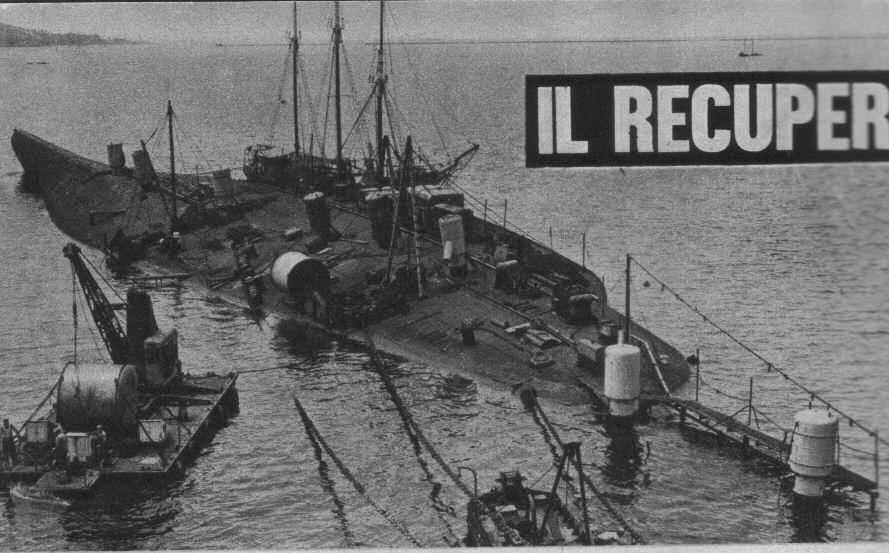 Recupero della corazzata Cavour