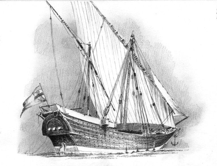 Ceylon, imbarcazione d'ispirazione araba