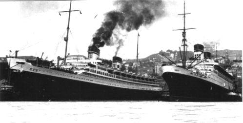 il Rex e il Conte di Savoia a Genova