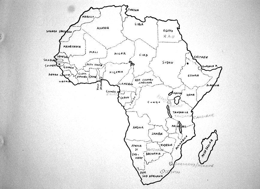 Montessori Nuova Carta Geografica Dellafrica Muta