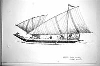 Indonesian outrigger canoe wiht