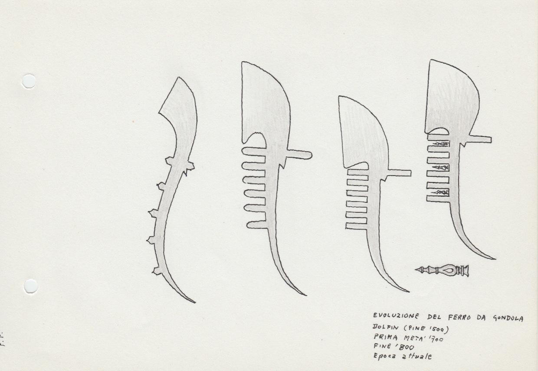 Ferro Di Gondola.460 Evoluzione Del Ferro Da Gondola Dolfin Fine 500