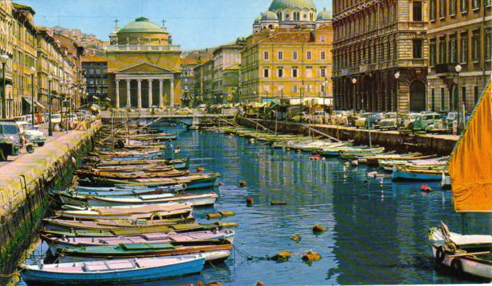 Trieste, canale e Chiesa di San'Antonio